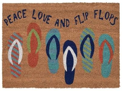 Blue (2019-03) Natura Flip Flops Novelty / Seasonal Area Rugs