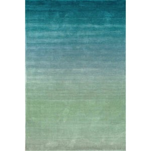 Blue (04) Arca Ombre Contemporary / Modern Area Rugs