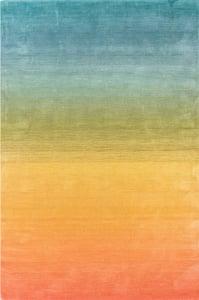 Orange, Blue, Green (44) Arca Ombre Contemporary / Modern Area Rugs