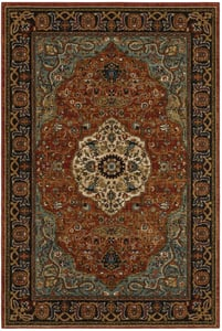 Blue, Red (90661-90097) Spice Market Petra Traditional / Oriental Area Rugs