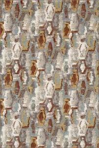 Grey, Rust, Cream (Robins Egg) Soiree Gimlet Contemporary / Modern Area Rugs