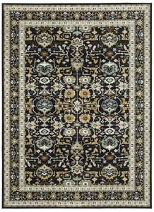 Black (90166) Zephyr Amphora Traditional / Oriental Area Rugs