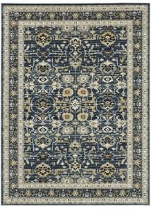 Majolica Blue (118-501) Zephyr Amphora Traditional / Oriental Area Rugs