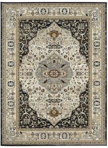 Black (123-901) Zephyr Chronos Traditional / Oriental Area Rugs