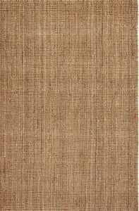 Natural (AMB-0300) Jute Collection Andes Natural Fiber Area Rugs