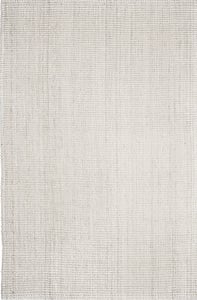 Ivory (AMB-0338) Jute Collection Andes Natural Fiber Area Rugs