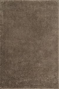 Taupe Cozy Shag CZ-01 Solid Area Rugs