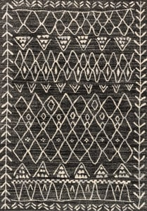 Black, Ivory Emory EB-09 Moroccan Area Rugs