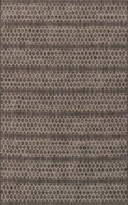 Black, Grey Isle IE-01 Contemporary / Modern Area Rugs