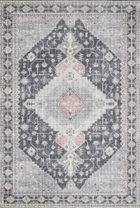 Charcoal Skye Printed SKY-02 Traditional / Oriental Area Rugs