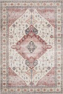 Ivory, Berry Skye Printed SKY-02 Traditional / Oriental Area Rugs