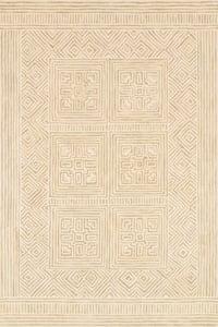Ivory, Sand Boceto BOC-01 Contemporary / Modern Area Rugs