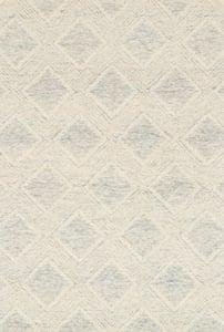 Slate, Ivory Kopa KO-07 Geometric Area Rugs