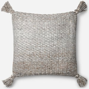 Ivory, Grey ED Pillow P4065 Bohemian Pillow