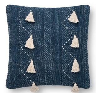 Blue, Natural ED Pillow P4112 Bohemian Pillow