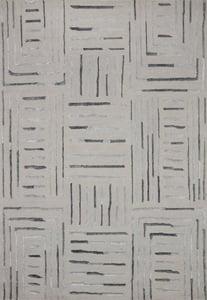 Silver, Slate Verve VER-02 Contemporary / Modern Area Rugs