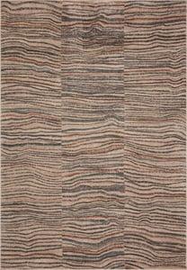 Sand, Grey, Orange (CHA-03) Chalos CHA Waves Bohemian Area Rugs
