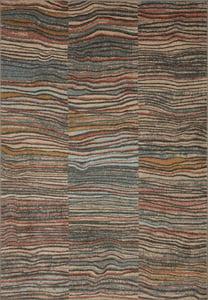 Charcoal, Blue, Brick (CHA-09) Chalos CHA Waves Bohemian Area Rugs