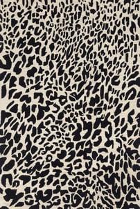 Black, Ivory Masai MAS-02 Animals / Animal Skins Area Rugs