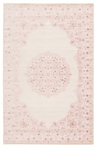 Pink, White (FB-123) Fables Malo Traditional / Oriental Area Rugs