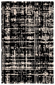 Black, Cream (CLN16) Clayton Pals Contemporary / Modern Area Rugs