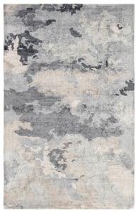 Grey, Dark Blue (TRD-04) Transcend Glacier Abstract Area Rugs