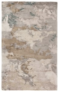 Grey, Taupe (TRD-05) Transcend Glacier Abstract Area Rugs