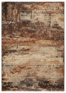 Brown, Beige (DSH-18) Dash Buxton Contemporary / Modern Area Rugs