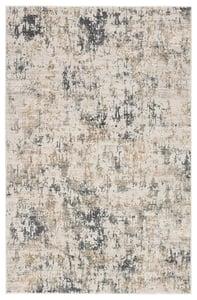 White, Dark Gray (CIQ-09) Cirque Arvo Abstract Area Rugs