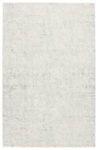 Silver, White (CIQ-08) Cirque Arvo Abstract Area Rugs