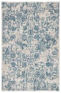 Silver, Blue (CIQ-17) Cirque Clara Vintage / Overdyed Area Rugs