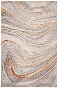 Grey, Copper, Beige (GES-21) Genesis Atha Abstract Area Rugs