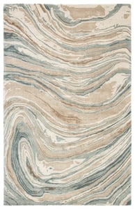 Tan, Grey (GES-33) Genesis Atha Abstract Area Rugs
