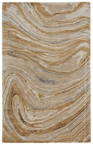 Gold, Beige (GES-36) Genesis Atha Abstract Area Rugs