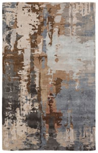 Tan, Grey (GES-43) Genesis Matcha Abstract Area Rugs