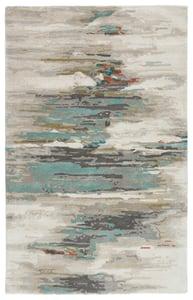 Grey, Blue (GES-06) Genesis Ryenn Abstract Area Rugs