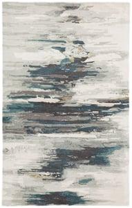 Teal, Grey (GES-20) Genesis Ryenn Abstract Area Rugs