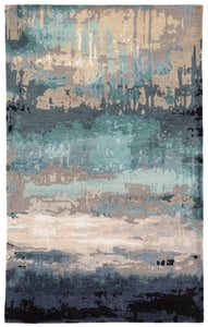 Blue, Grey (GES-27) Genesis Benna Abstract Area Rugs