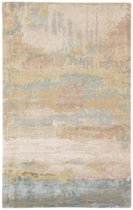 Gold, Light Blue (GES-28) Genesis Benna Abstract Area Rugs