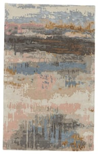 Blush, Light Blue (GES-17) Genesis Benna Abstract Area Rugs