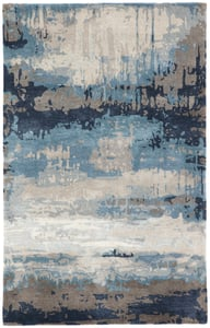 Blue, Grey (GES-18) Genesis Benna Abstract Area Rugs