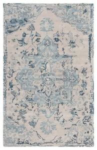 Beige, Dark Blue (CIT-03) Citrine Sasha Vintage / Overdyed Area Rugs