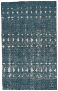 Teal, White (REI-02) Reign Abelle Contemporary / Modern Area Rugs