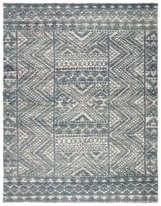 Blue, Ivory (REI-08) Reign Prentice Bohemian Area Rugs
