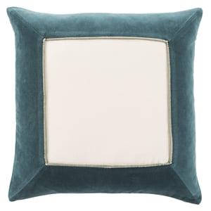 Teal, Cream (EMS-01) Emerson Pillow Hendrix Contemporary / Modern Pillow