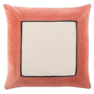 Pink, Cream (EMS-10) Emerson Pillow Hendrix Contemporary / Modern Pillow