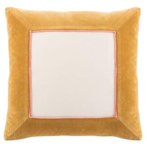 Gold, Cream (EMS-13) Emerson Pillow Hendrix Contemporary / Modern Pillow