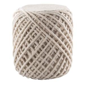 White, Light Grey (SCP-18) Scandinavia Pouf Anneli Solid Poufs