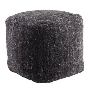 Black, Ivory (VBD-01) Vagabond Pouf Sherwood Solid Poufs