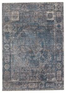 Blue, Grey (VLN-13) Valentia Arcadia Traditional / Oriental Area Rugs